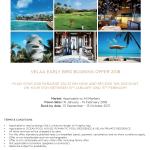马尔代夫维拉私人岛2018早鸟优惠 Velaa Early Bird Promotion 2018