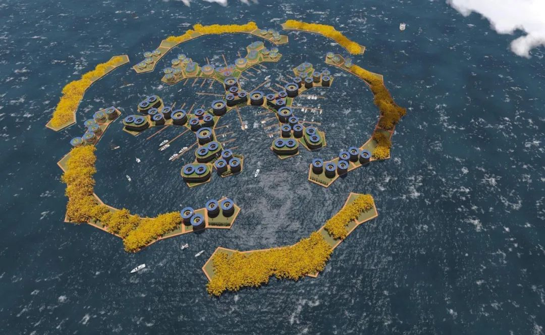 """开眼:全球首个""""海上飞碟""""漂浮酒店问世!浮夸背后是富豪的逃难工具?"""